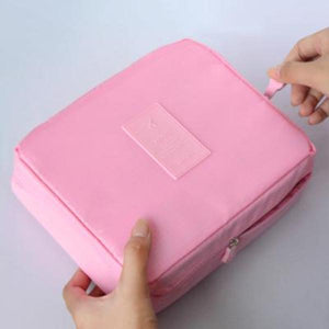 Pink Waterproof Cosmetic Bag