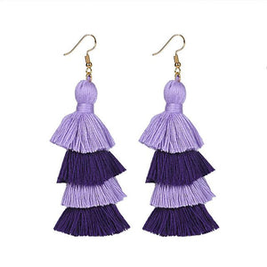 Purple Layered Earrings