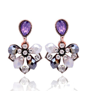 Purple Petals Stud Earrings