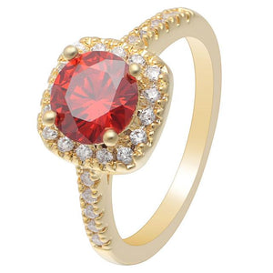 Red Gold Cubic Zirconia Ring