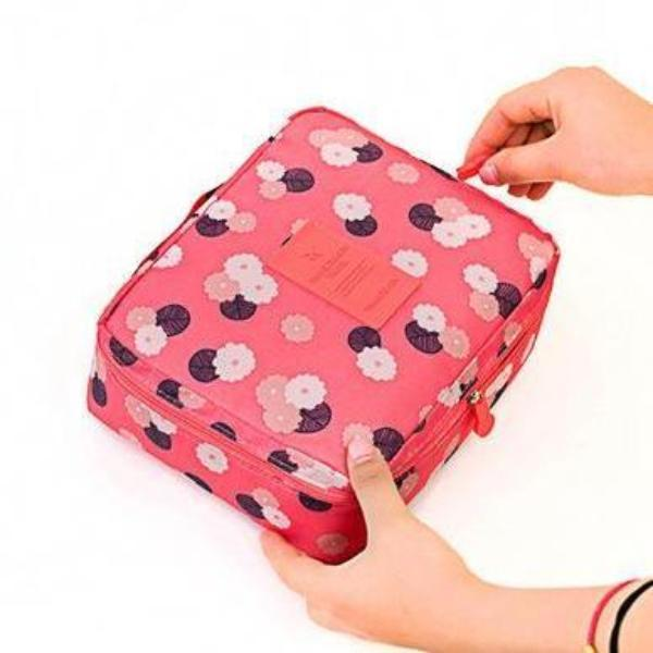 Red Plum Waterproof Cosmetic Bag