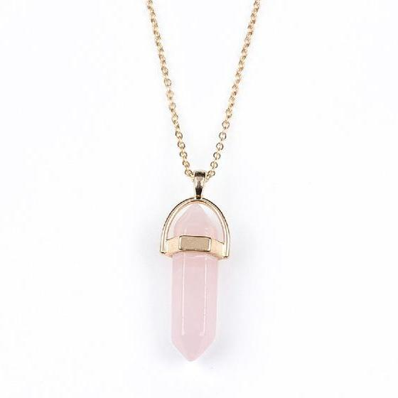Rose Quartz Natural Stone Pendant