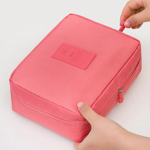 Watermelon Red Waterproof Cosmetic Bag