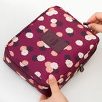 Wine Plum Waterproof Cosmetic Bag