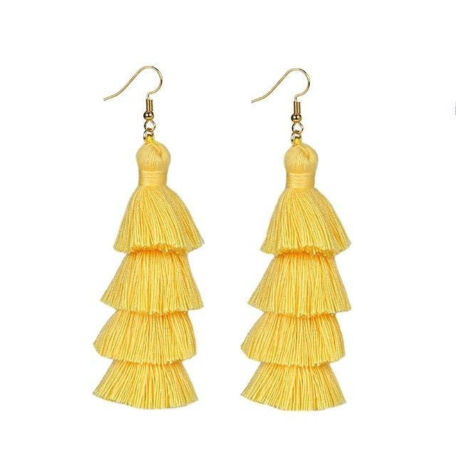 Yellow Layered Earrings