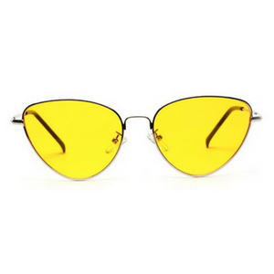 Yellow Retro Cat Sunglasses