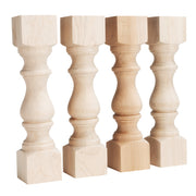 "Maple Monastery Bench Legs - 3.5"" x 3.5"" x 16"""