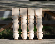 "Knotty Pine Chunky Farmhouse Bench Legs - 3.5"" x 3.5"" x 16"""