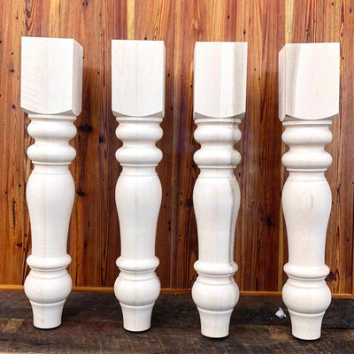 Maple Chunky Dining Table Legs
