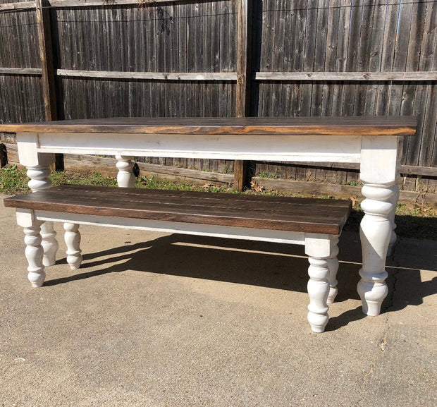 "Maple Chunky Farmhouse Bench Legs - 3.5"" x 3.5"" x 16"""