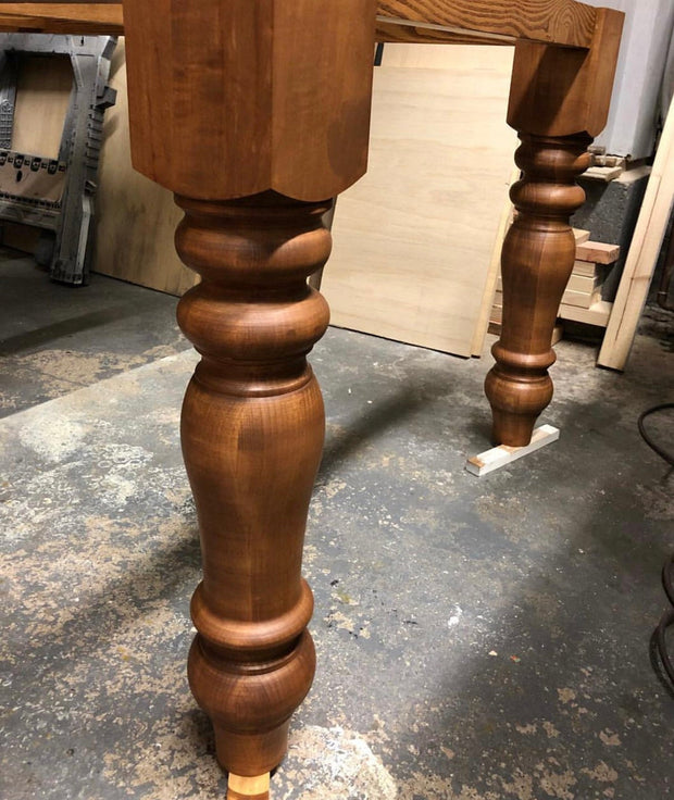 "Maple Chunky Dining Legs - 5"" x 5"" x 29"""