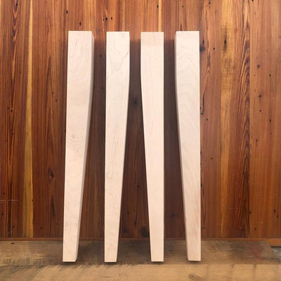 "Maple Tapered Dining Legs - 3"" x 3"" x 29"""