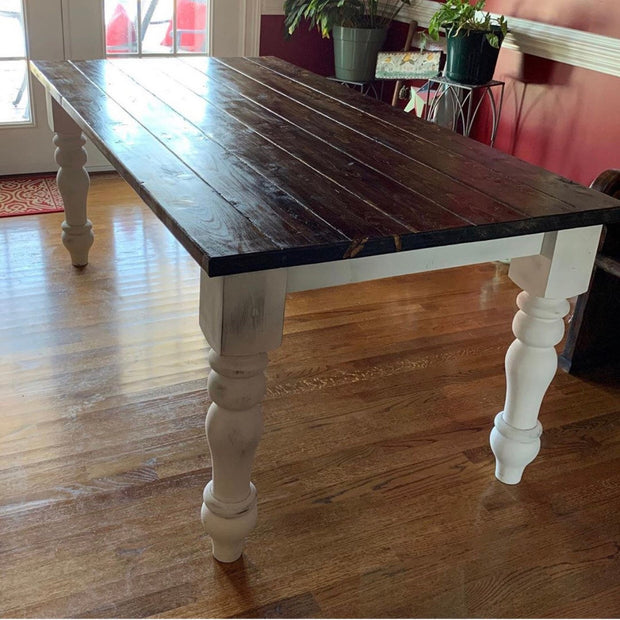 "Poplar Curvy Dining Table Legs - 5"" x 5"" x 29"""