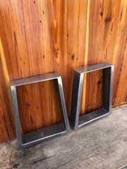 "Trapezoid Metal Table Legs - Set of 2 - 29"" x 24"" - Custom Sizes Available by Request"