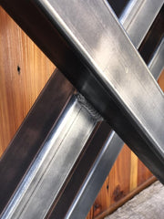 "X Metal Table Legs - Set of 2 - 29"" x 24"" - Custom Sizes Available by Request"