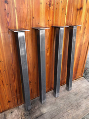 "Metal Post Table Legs - Set of 4 - 29"" - Custom Sizes Available by Request"