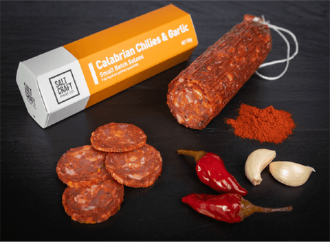 Calabrian Chilies & Garlic Small Batch Salami |180 gr - Cultivatr - Farm to Table