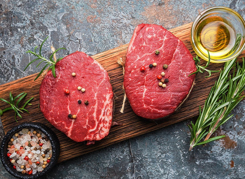 Grass Fed Tenderloin Steak | 2 Steaks (Aprx. 6 oz each) - Cultivatr - Farm to Table