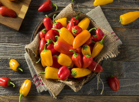 Local Peppers -Mini Mixed Bell | 0.5 lbs - Cultivatr - Farm to Table