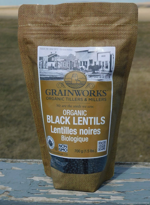 Organic Black Lentils | 700 g - Cultivatr - Farm to Table