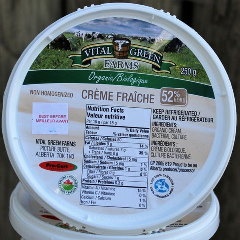 Organic Creme Fraiche - Cultivatr - Farm to Table