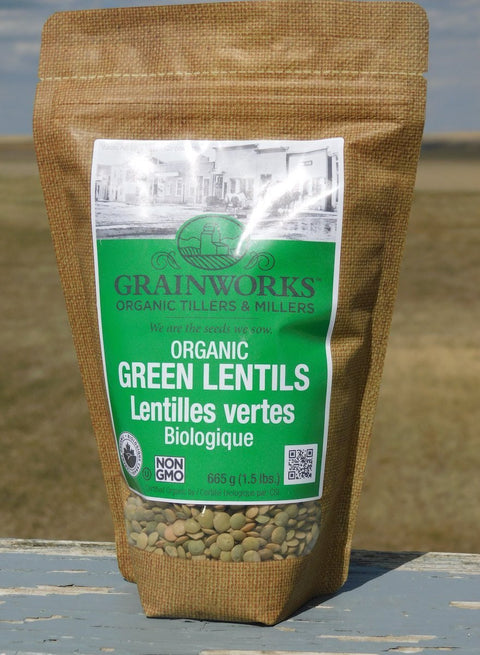 Organic Green Lentils | 665 g - Cultivatr - Farm to Table