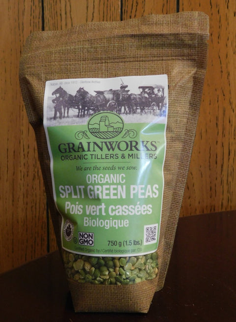 Organic Green Split Peas | 750 g - Cultivatr - Farm to Table