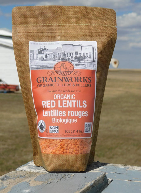 Organic Red Lentils | 655 g - Cultivatr - Farm to Table