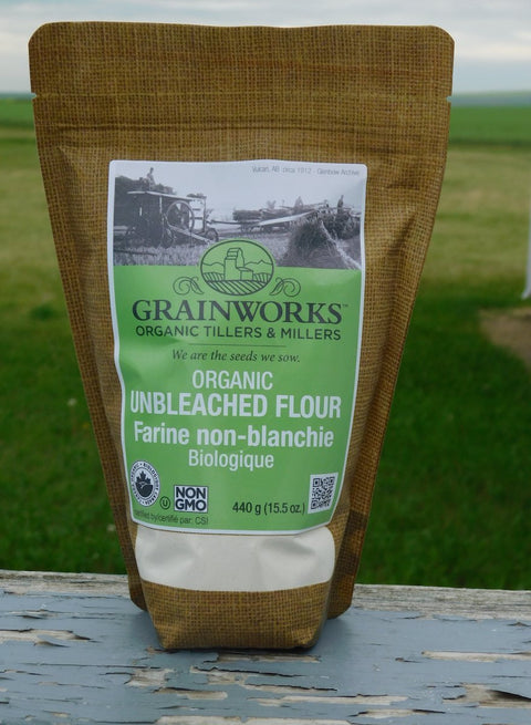 Organic Unbleached White Flour | 440 g - Cultivatr - Farm to Table