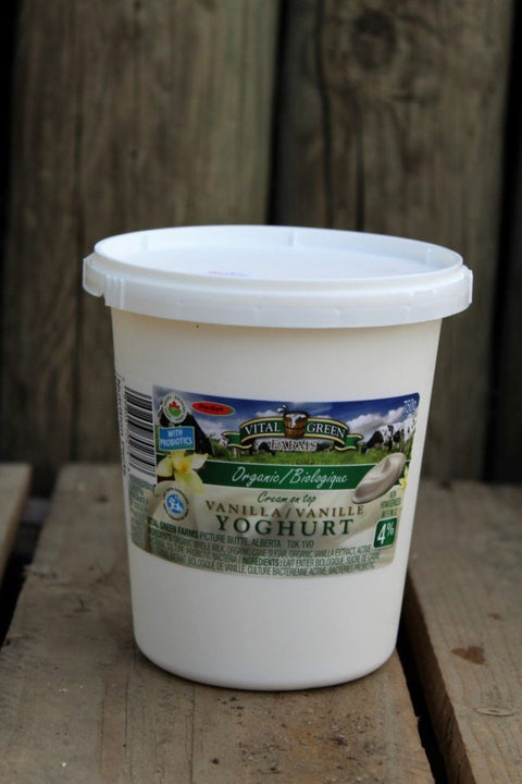 Organic Yoghurt (Plain or Vanilla) - Cultivatr - Farm to Table