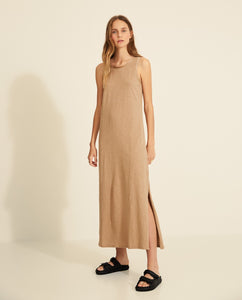 Long Dress with Satin Details Yerse