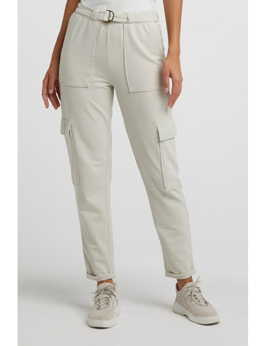 Belted cargo jogger pants with folded hems Yaya