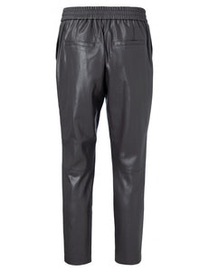 Faux leather relaxed fit trousers Yaya the Brand