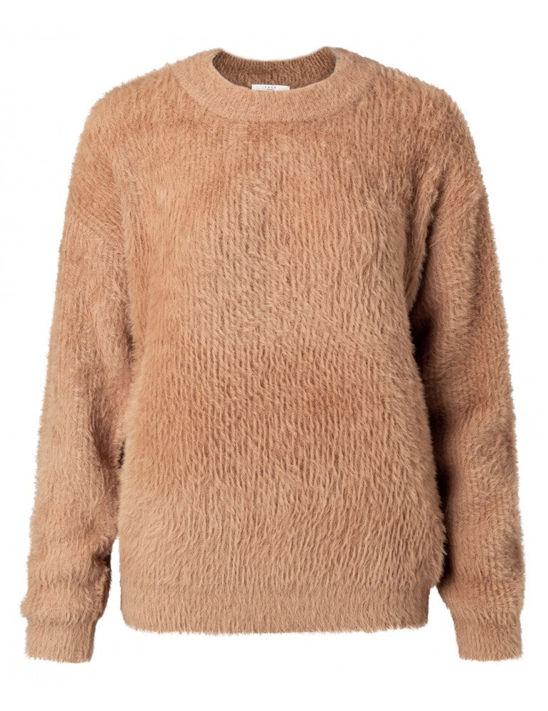 Fur Knitted Sweater Yaya the Brand