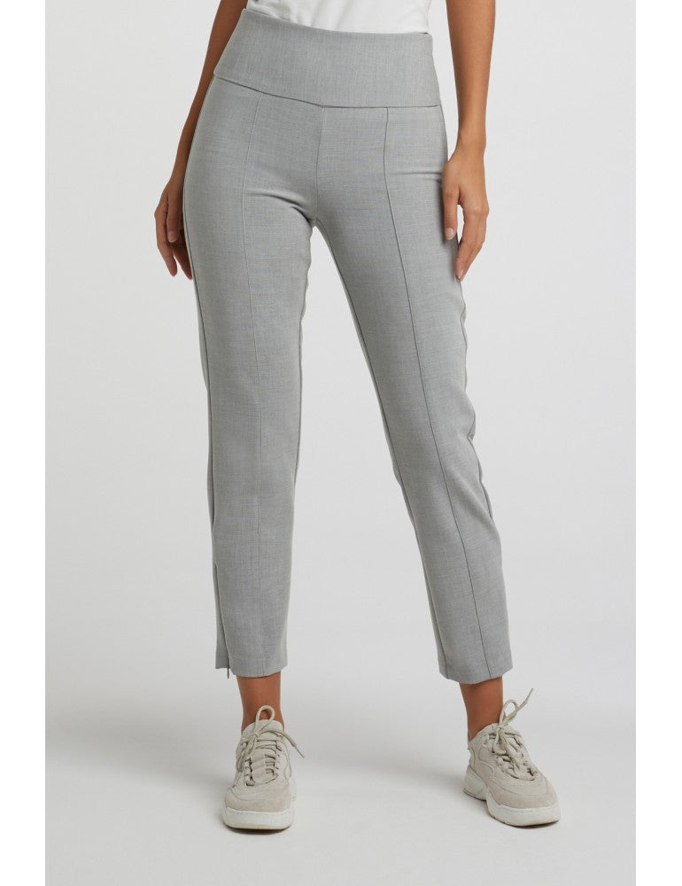 High waist trousers with pintuck and zippers on sides Yaya