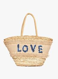 Blue Sea rush tote bag Molly Bracken