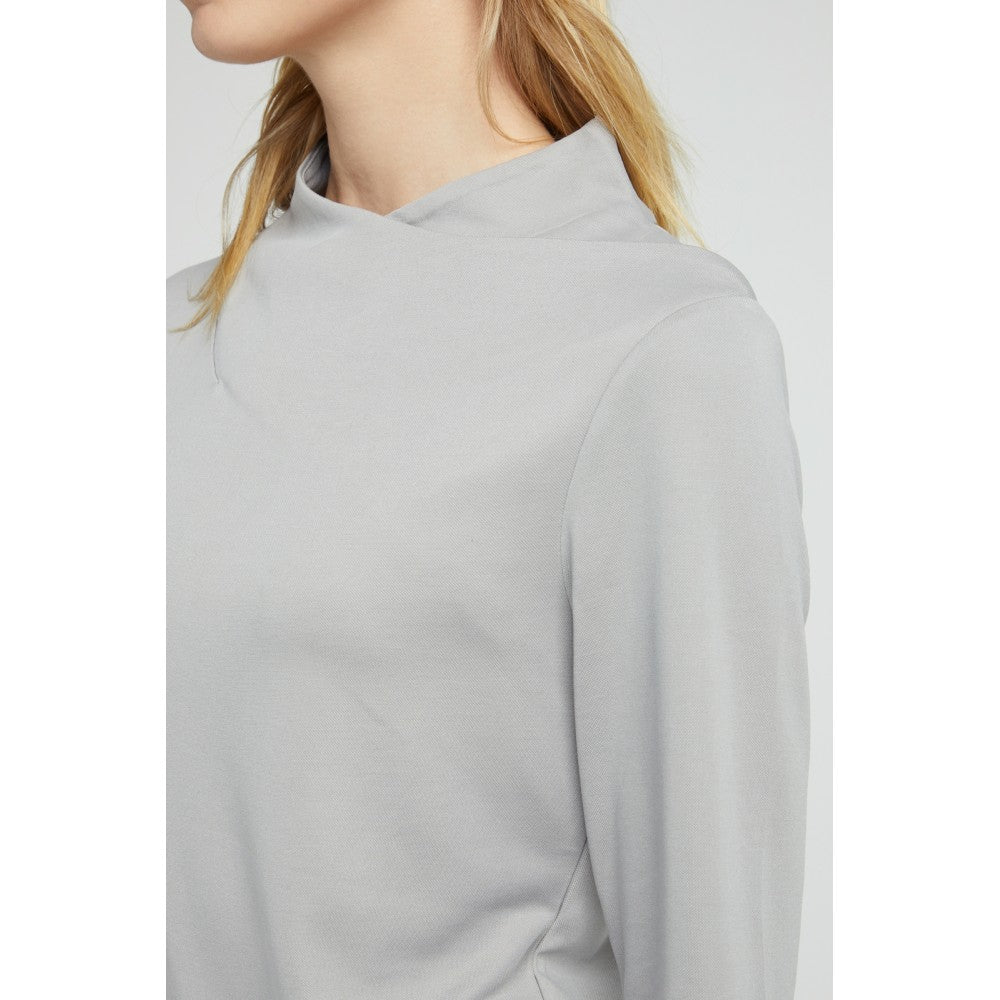 Top with draping collar and long sleeves Yaya