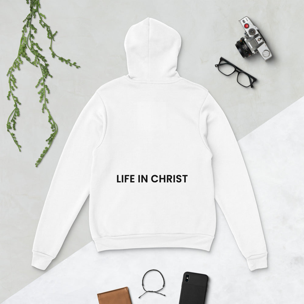 AWAKENED TO LIFE IN CHRIST HOODIE WHITE