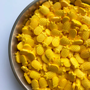 Yellow pineapple shaped sprinkles candy