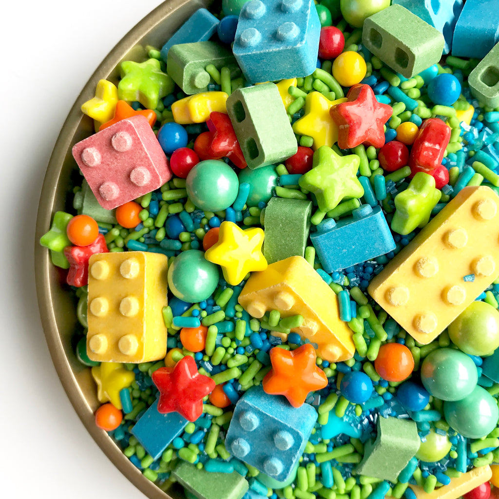Block Party Sprinkle Medley | Blue Sprinkles | Cake Sprinkles | Manvscakes