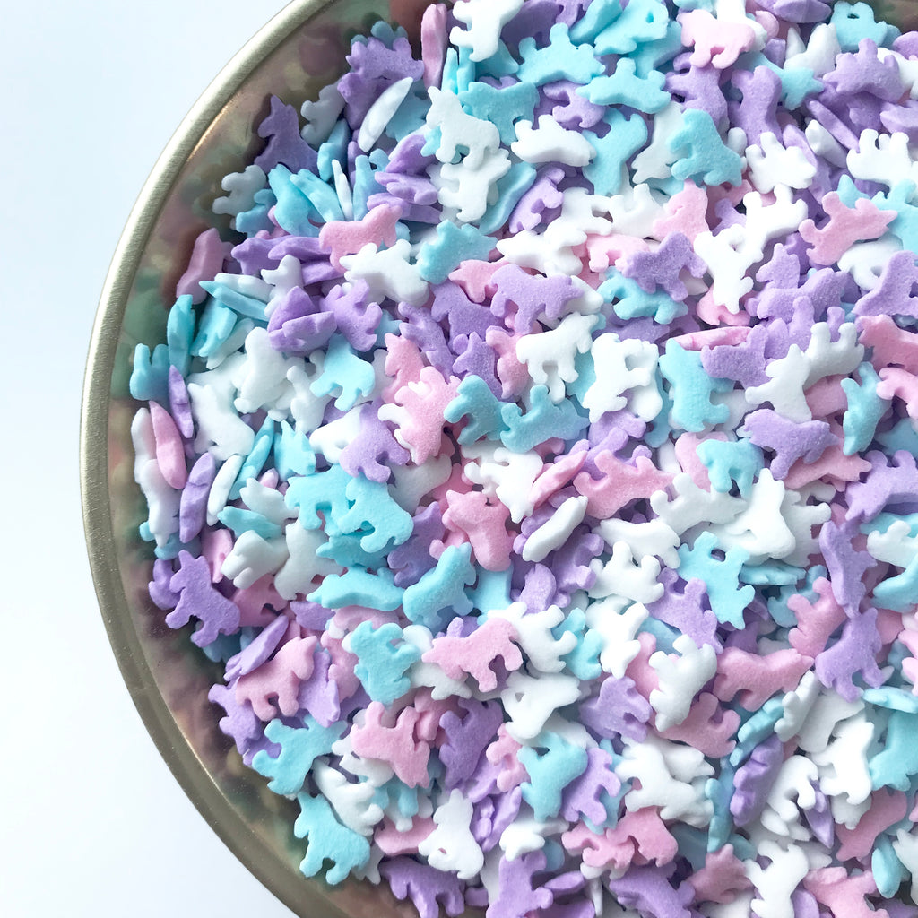 Unicorn shaped confetti sprinkles
