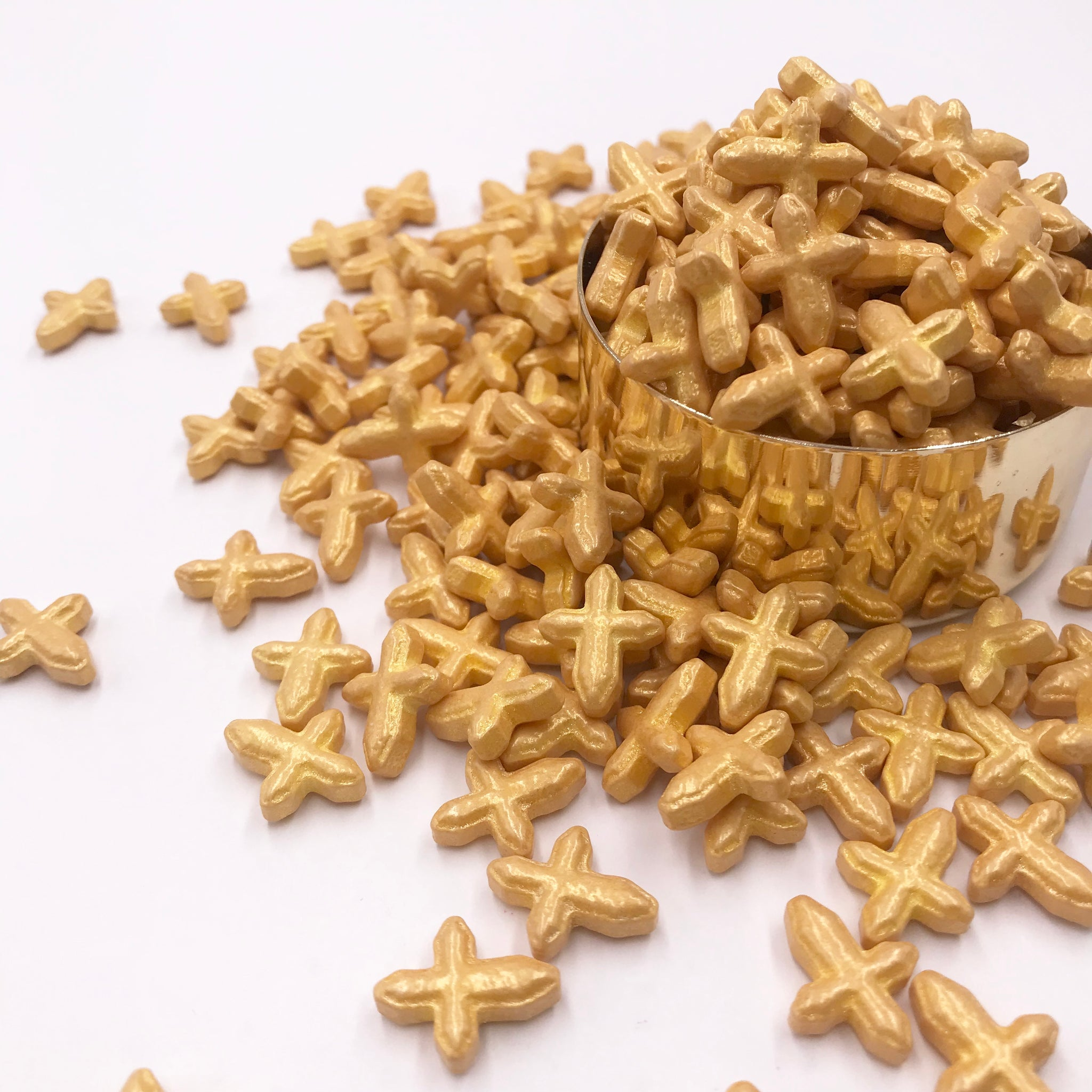 Sprinkles | Gold Cross Sprinkles | Edible Sprinkles | Cake Decorations | Candy | Cross Sprinkles