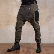 【Cyber Monday Sale!!50% OFF!!Original Price:$99】Design Men's Button Splicing Casual Pants