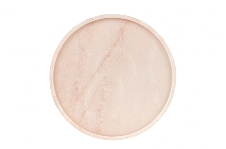 Round Pink Marble Tray Small