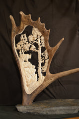 Moose Antler Carving, Power Carving, bigfoot-carving-tools