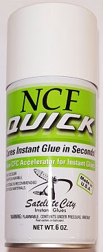 1030014 - NCF Quick Accelerator, Aerosol, 6 oz.  (SHIPS ONLY by UPS GROUND) - bigfoot-carving-tools