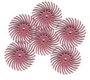 "1170644 - Radial Bristle Discs 3/4"" - 1200 grit (Pink), bigfoot-carving-tools, Power Carving, Carving, Scotch-brite"