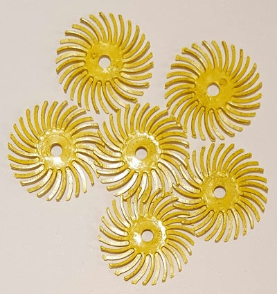 "1170650 - Radial Bristle Discs 1"" - 80 grit (Yellow) - bigfoot-carving-tools"