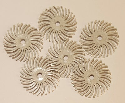 "1170651 - Radial Bristle Discs 1"" - 120 grit (White). - bigfoot-carving-tools"