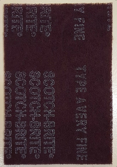 "1260101 - Defuzzer Pad, 6"" x 9"", Maroon, Very Fine, bigfoot-carving-tools, abrasive"